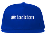 Stockton California CA Old English Mens Snapback Hat Royal Blue
