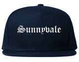 Sunnyvale California CA Old English Mens Snapback Hat Navy Blue
