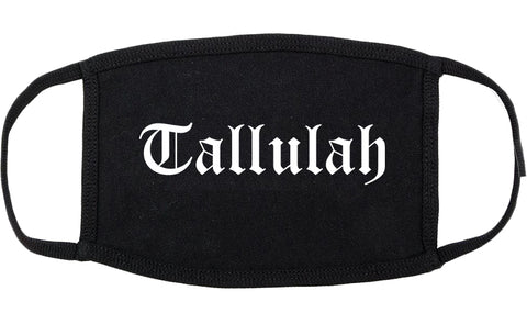 Tallulah Louisiana LA Old English Cotton Face Mask Black
