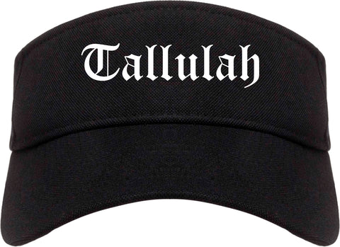 Tallulah Louisiana LA Old English Mens Visor Cap Hat Black