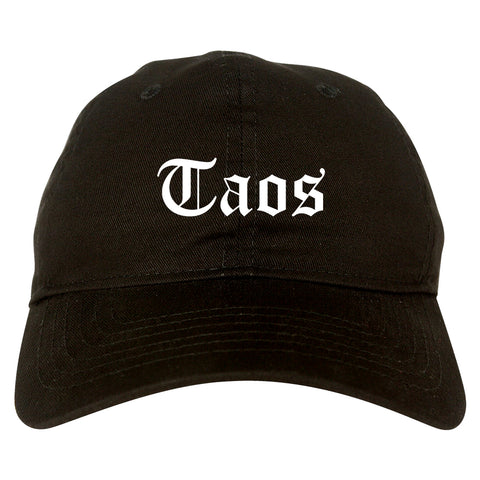 Taos New Mexico NM Old English Mens Dad Hat Baseball Cap Black