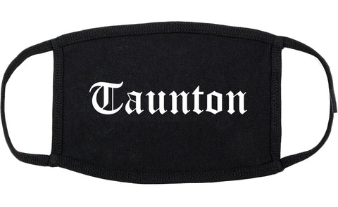 Taunton Massachusetts MA Old English Cotton Face Mask Black