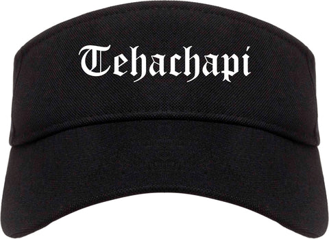 Tehachapi California CA Old English Mens Visor Cap Hat Black