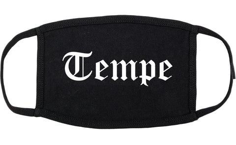 Tempe Arizona AZ Old English Cotton Face Mask Black