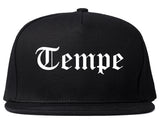 Tempe Arizona AZ Old English Mens Snapback Hat Black