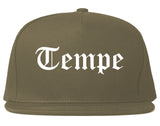 Tempe Arizona AZ Old English Mens Snapback Hat Grey