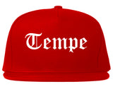 Tempe Arizona AZ Old English Mens Snapback Hat Red