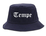 Tempe Arizona AZ Old English Mens Bucket Hat Navy Blue
