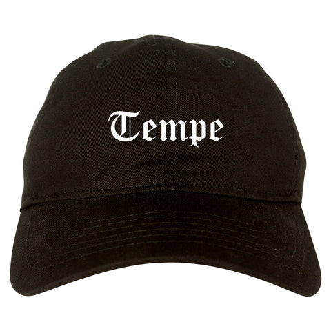 Tempe Arizona AZ Old English Mens Dad Hat Baseball Cap Black
