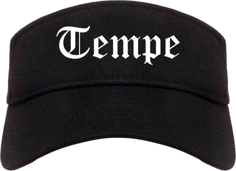 Tempe Arizona AZ Old English Mens Visor Cap Hat Black