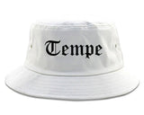 Tempe Arizona AZ Old English Mens Bucket Hat White