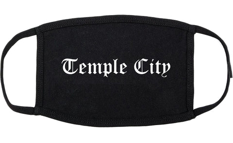 Temple City California CA Old English Cotton Face Mask Black
