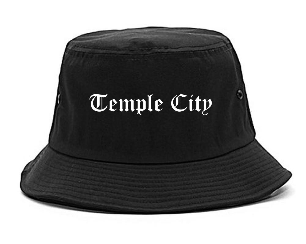 Temple City California CA Old English Mens Bucket Hat Black