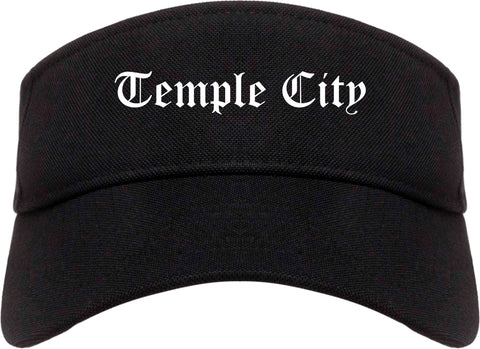 Temple City California CA Old English Mens Visor Cap Hat Black