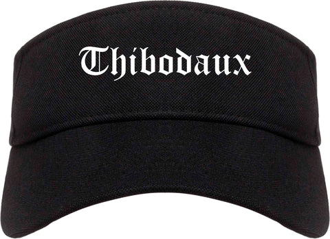 Thibodaux Louisiana LA Old English Mens Visor Cap Hat Black
