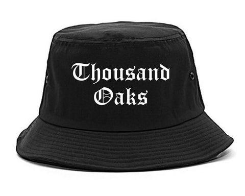 Thousand Oaks California CA Old English Mens Bucket Hat Black