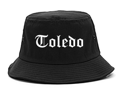 Toledo Ohio OH Old English Mens Bucket Hat Black