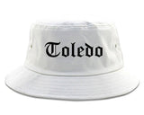 Toledo Ohio OH Old English Mens Bucket Hat White