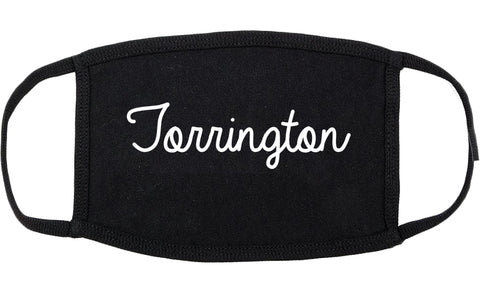 Torrington Connecticut CT Script Cotton Face Mask Black