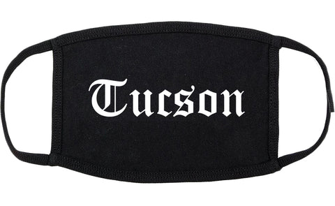 Tucson Arizona AZ Old English Cotton Face Mask Black