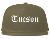 Tucson Arizona AZ Old English Mens Snapback Hat Grey