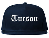 Tucson Arizona AZ Old English Mens Snapback Hat Navy Blue