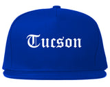 Tucson Arizona AZ Old English Mens Snapback Hat Royal Blue