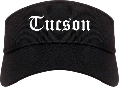 Tucson Arizona AZ Old English Mens Visor Cap Hat Black