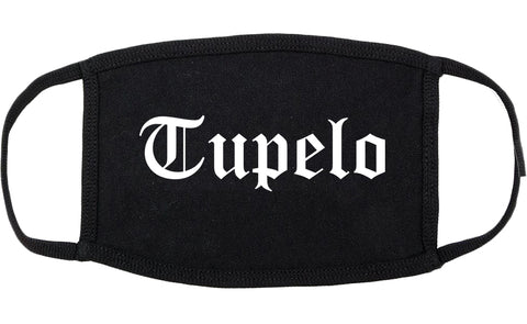 Tupelo Mississippi MS Old English Cotton Face Mask Black