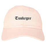 Tuskegee Alabama AL Old English Mens Dad Hat Baseball Cap Pink