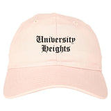 University Heights Ohio OH Old English Mens Dad Hat Baseball Cap Pink
