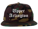 Upper Arlington Ohio OH Old English Mens Snapback Hat Army Camo