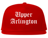 Upper Arlington Ohio OH Old English Mens Snapback Hat Red