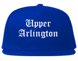 Upper Arlington Ohio OH Old English Mens Snapback Hat Royal Blue