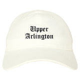 Upper Arlington Ohio OH Old English Mens Dad Hat Baseball Cap White