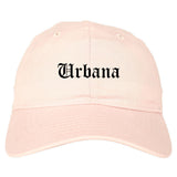Urbana Ohio OH Old English Mens Dad Hat Baseball Cap Pink