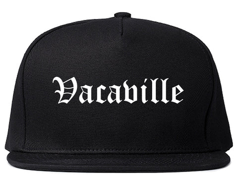 Vacaville California CA Old English Mens Snapback Hat Black