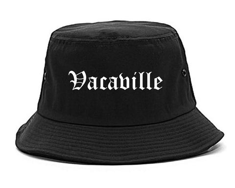 Vacaville California CA Old English Mens Bucket Hat Black