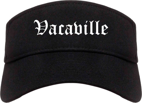 Vacaville California CA Old English Mens Visor Cap Hat Black