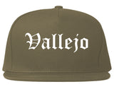 Vallejo California CA Old English Mens Snapback Hat Grey