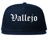 Vallejo California CA Old English Mens Snapback Hat Navy Blue