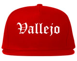Vallejo California CA Old English Mens Snapback Hat Red