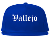Vallejo California CA Old English Mens Snapback Hat Royal Blue