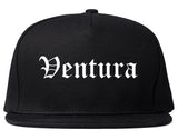 Ventura California CA Old English Mens Snapback Hat Black