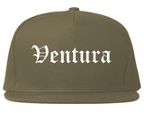 Ventura California CA Old English Mens Snapback Hat Grey