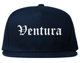 Ventura California CA Old English Mens Snapback Hat Navy Blue
