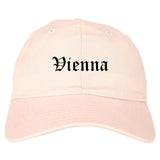Vienna West Virginia WV Old English Mens Dad Hat Baseball Cap Pink