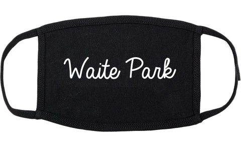 Waite Park Minnesota MN Script Cotton Face Mask Black