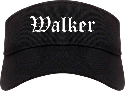 Walker Louisiana LA Old English Mens Visor Cap Hat Black