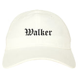 Walker Michigan MI Old English Mens Dad Hat Baseball Cap White
